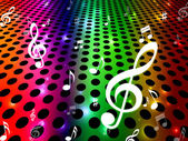 Background Music Shows Sound Track And Clef — Stockfoto