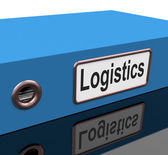 File Logistics Indicates Coordinate Folders And Analyze — Foto Stock