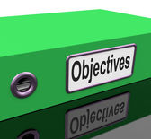 File Objectives Means Goals Mission And Plan — Stock Photo