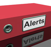 Alerts File Indicates Warning Organized And Paperwork — Zdjęcie stockowe