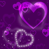 Glow Heart Means Valentine Day And Abstract — 图库照片