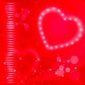 Glow Background Represents Heart Shape And Backgrounds — Stock Photo