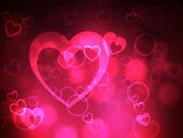 Heart Background Represents Valentine Day And Backdrop — Stock Photo