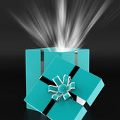 Surprised Surprise Indicates Gift Box And Wrapped — Stock Photo