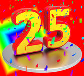 Twenty Five Represents Birthday Party And Anniversaries — Stock Photo