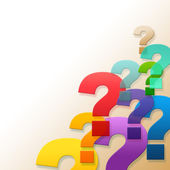 Question Marks Shows Frequently Asked Questions And Answer — Stock Photo
