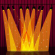 Background Spotlight Indicates Stage Lights And Backdrop — Stock Photo