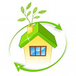 Eco House Indicates Earth Friendly And Building — Stock Photo #49084347