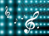 Background Notes Means Treble Clef And Backdrop — Stock Photo