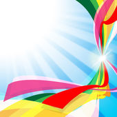 Swirl Ribbons Shows Text Space And Artistic — Stock Photo