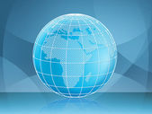 Globe Background Means Backgrounds Earth And Global — Stock Photo