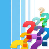 Question Marks Represents Frequently Asked Questions And Asking — Stock Photo