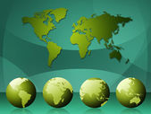 World Map Means Cartography Globalization And Continents — Stock Photo