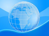 Background Globe Means Globally Globalise And Design — Stock Photo