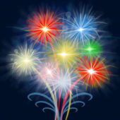 Fireworks Celebrate Shows Explosion Background And Celebration — Stock Photo