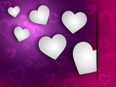 Background Hearts Shows Valentines Day And Abstract — Stock Photo