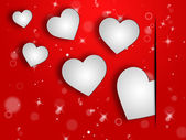 Hearts Background Represents Valentines Day And Abstract — Stock Photo