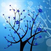Nature Tree Represents Light Burst And Blazing — Foto de Stock