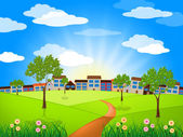 Sun Sunny Indicates Green Grass And Lawn — Foto Stock