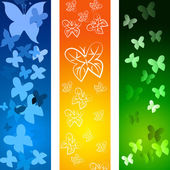 Butterflies Copyspace Indicates Blank Flying And Backdrop — Stock Photo