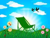Garden Summer Represents Heat Home And Season — Foto Stock