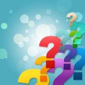Question Marks Shows Frequently Asked Questions And Asking — Stock Photo