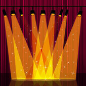 Background Spotlight Indicates Stage Lights And Backdrop — Foto Stock