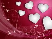 şablon ve sevgililer günü kalpleri arka plan temsil seviyorum — Stok fotoğraf