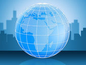 World Globe Represents Globally Globalise And Global — Stock Photo