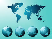World Map Indicates Globe Countries And Backdrop — Stock Photo