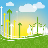 Wind Power Indicates Renewable Resource And Environment — Stock Photo