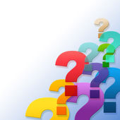 Question Marks Represents Frequently Asked Questions And Answer — Stock Photo