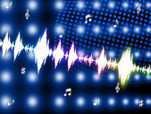 Sound Wave Shows Backgrounds Music And Soundtrack — Foto Stock