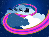Clouds Sky Represents Father Christmas And Christmastime — Stock Photo