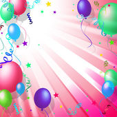 Balloons Background Shows Blank Space And Backdrop — Stock Photo