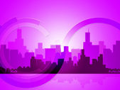 City Copyspace Indicates Abstract Background And Downtown — Stock Photo
