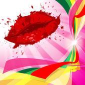 Beauty Lips Represents Make Up And Beautiful — Stock Photo