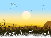 Background Landscape Means Summer Time And Picturesque — Stock Photo