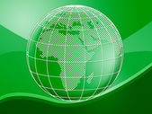 Globe World Represents Background Planet And Backgrounds — Stock Photo