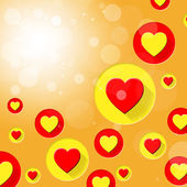 Copyspace Hearts Means Valentine Day And Blank — Foto Stock