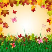 Floral Copyspace Indicates Bouquet Creature And Butterflies — Stock Photo