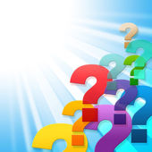 Question Marks Indicates Frequently Asked Questions And Asking — Stock Photo