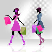 Shopper Women Means Commercial Activity And Adults — Stock Photo