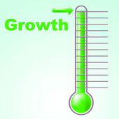 Growth Thermometer Indicates Rise Scale And Development — Stock Photo