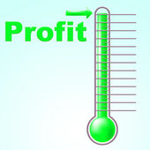 Profit Thermometer Represents Profitable Income And Thermostat — Stock Photo