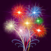 Celebrate Fireworks Shows Explosion Background And Celebrating — Stock Photo