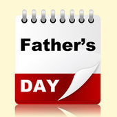 Fathers Day Indicates Date Daddy And Celebration — Stock Photo