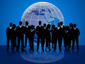 Business People Means Cooperation Globalize And Coworkers — Stock Photo