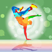 Break Dancing Represents Disco Music And Dance — 图库照片