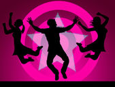 Excitement Disco Represents Nightclub Activity And Party — Foto Stock